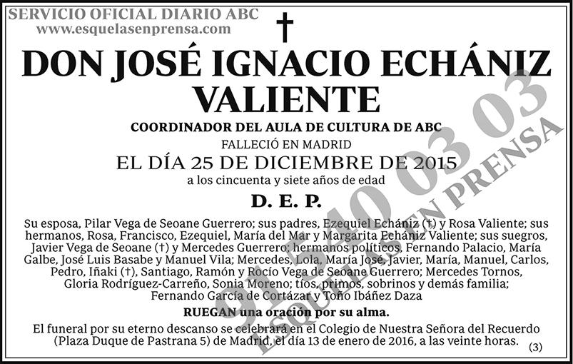 José Ignacio Echániz Valiente